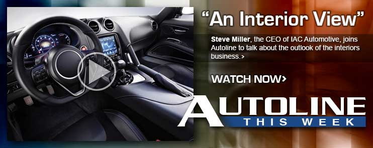 Steve Miller, the CEO of IAC Automotive, joins Autoline to talk about the outlook of the auto interiors business